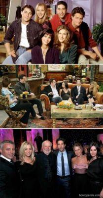 Antes e Depois : Friends